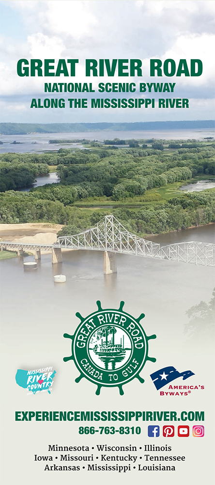 10 State Great River Road Map